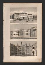 1827 LONDON - CUSTOM HOUSE, NEW POST OFFICE, GUILDHALL