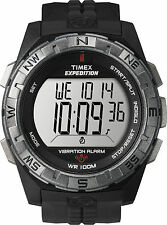Timex Men's Expedition Rugged Digital Black Case & Strap Watch Compass T49851