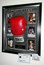 *** Rare MUHAMMAD ALI SIGNED GLOVE and DOME Display Case ***