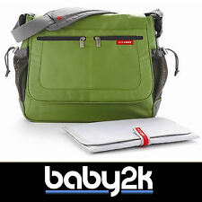 Skip Hop Skiphop Via Messenger Baby Nappy Diaper Changing Bag in Lime Green BNWT