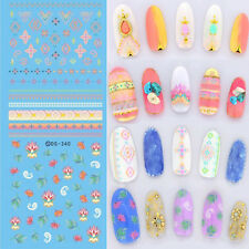 1 Sheet Water Decal Nail Art Diamond Leaf Transfer Stickers Decoration DS340