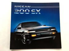 1986 Nissan 200-SX 200SX and Turbo 16-page Original Car Brochure Catalog  1985