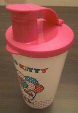 Tupperware Hello Kitty Trinkbecher mit Trinkdeckel + Verschluss 330 ml Weiß Neu