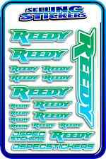 REEDY RC STICKERS DRIFT TOURING MOTOR ESC BATTERY 1/12 1/10 AE RACE BLUE GREEN W