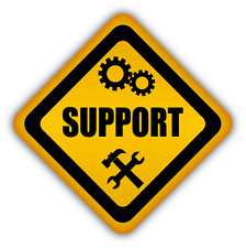 "Service Support Sign Car Bumper Sticker Decal 5"" x 5"""