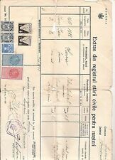 Romania fiscal revenue 1938 extract registration of birth / TB  Tuberculose Seal