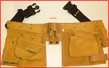 TRADESMANS LEATHER TOOL & NAIL BAG BELT - BRAND NEW.