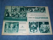 """1960 Vintage Front-Engine Dragster Article """"The Californian"""""""