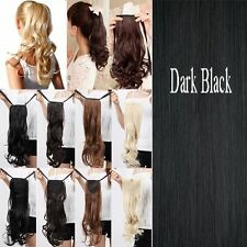 Clip In Ponytail Pony Tail Hair Extensions Piece Wavy Style Tie on Hair as real