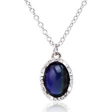 Sensitive Liquid Crystal Thermo Mood Color Chain Pendant Necklace For Women Gift