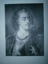 Planche gravure Portrait de Louis XV Par Jacques christophe le Blon