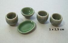 lot vaisselle,poterie miniature maison de poupée, vitrine, création fimo  S10-25
