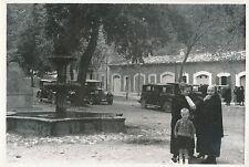 ÎLE DE MAJORQUE c. 1935 -Voitures Place du Monastère de Lluc Espagne -DIV 6397