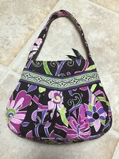 Vera Bradley Pleated Tote Zip Top Bag In Purple Punch Retired