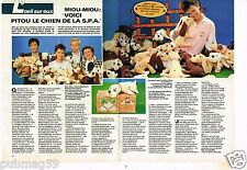Coupure de presse Clipping 1985 (2 pages) Miou-Miou et Pitou chien de la SPA