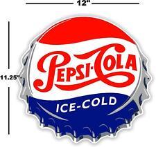 """(PC-221) 12"""" PEPSI CAP ICE COLD SODA POP VENDING MACHINE COOLER OR GUMBALL"""