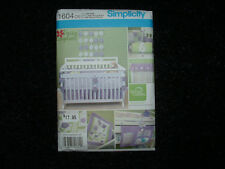 SIMPLICITY #1604 NURSERY ACCESSORIES  BUMPER QUILT VALANCE SHEET SEWING PATTERNS