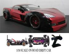 Corvette C6 WIDE-BODY Custom 1/10 Scale Remote Control Onroad  Drift Car