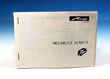 Metz MECABLITZ 32 MZ-3 Bedienungsanleitung manual D/GB/E/I - (101470)