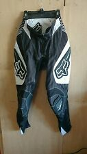 FOX RACING MOTOCROSS PANTS 180 black amd white size 28  FREE SHIPPING