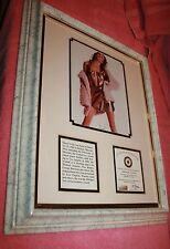 Vintage Signed Framed Autograph of Young Sheryl Crow COA Faded Signature
