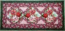 Handcrafted Roses in Bloom Quilted Table Runner