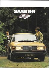 SAAB 99 CAR SALES BROCHURE 1972