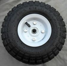 "1 TIRE 10"" NEW STEEL AIR PNEUMATIC, HAND TRUCK DOLLY, WAGON INDUSTRIAL WHEEL USA"