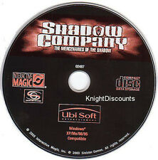 SHADOW COMPANY War Strategy for Windows PC CDRom Game NEW