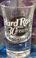 "Hard Rock Cafe SINGAPORE 2001 ""30 Years"" 2.75"" SHOT GLASS Mini HRC 30th Anniv."