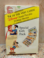 Vintage 54 Disney CLASSIC FAIRYTALE POSTAGE STAMPS Special Gift Pack SEALED!