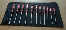 x11 Roebuck Nut drivers Various Sizes c/w Canvas Roll