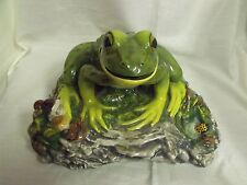 "Large The Townsends Ceramic Frog In Woods Signed 14 x 14 x 6"" High"