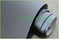 Brushed Aluminium Car Vinyl Wrap Film Air Bubble Free DARK GREY 75cm x 1.52m.
