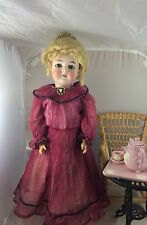 "Beautiful 23"" Antique German Bisque Head Doll Queen Louise!"