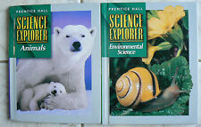 Prentice Hall,2 Science Explorer books, gr.8/8th Animals,Environmental Science