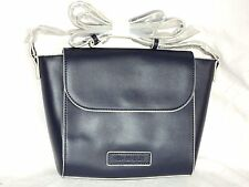 Vera Bradley Flap Crossbody Faux Leather Classic Navy Free Shipping $80