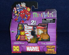 Marvel MiniMates Best of Series 1 IRON MAN & THING Action Figure 2 PK