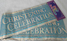 3x giant foil BOYS christening day banners / naming day / baptism / baby boys