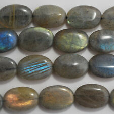 10 Semi-precious Gemstone Labradorite Beads Oval 14mm