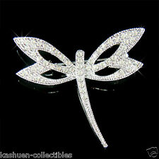 w Swarovski Crystal DRAGONFLY Bridal Wedding Prom Bouquet Jewelry Pin Brooch New