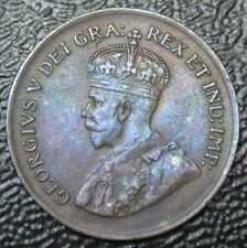OLD CANADIAN COIN - 1920 ONE CENT - George V - Nice 1st Year Small Cent