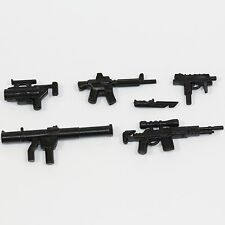 Weapons Pack V2 Custom Guns Army Compatible with toy brick minifigures Black m16