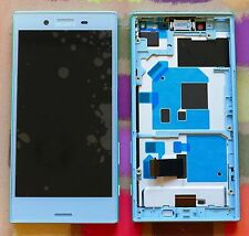 GENUINE BLUE SONY XPERIA X COMPACT F5321 HD IPS LCD DISPLAY with FRAME