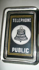 Bell Logo Public Pay Phone Telephone Local Long Distance Sign Glass Paperweight