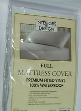 FITTED VINYL MATTRESS COVER PROTECTOR BED WETTER WET PROTECTION WATERPROOF FULL