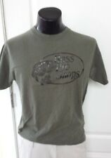 Bass Pro Shops Fish Logo Promo Green T Shirt Medium Retro Vintage Print Rare