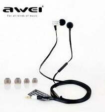 AWEI In-ear Earphone Super BASS and Noise Cancelling on Cord Microphone ES100i