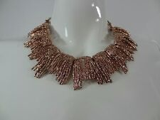 Oscar de la Renta Rose Gold Tone Statement Collar Necklace
