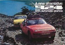 Porsche 924 Automatic 1977 Original UK Sales Brochure Pub No 1140.20